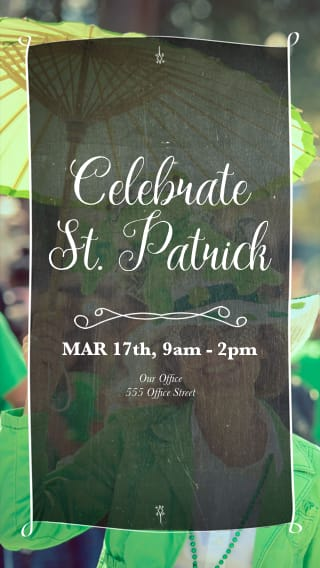 Text Message Invite Designs for Saint Patrick's Day Potluck