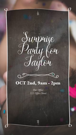 text message invite designs for big surprise birthday bash