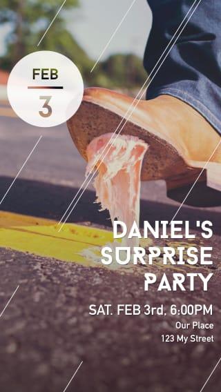 Text Message Invite Designs for Secret Surprise Party