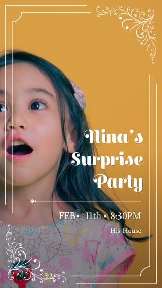 Text Message Invite Designs for Surprise Celebration