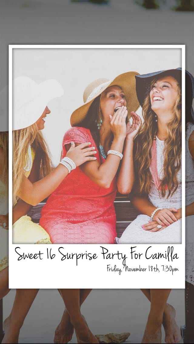 Text Message Invite Designs for Girls Night Out Sweet Sixteen Party