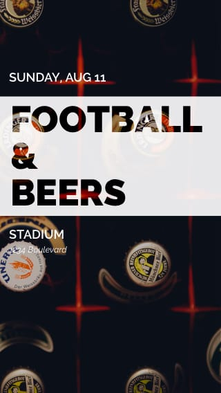 Text Message Invite Designs for Football and Beers