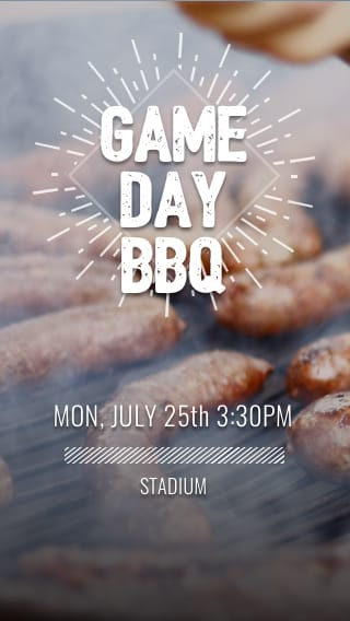 Text Message Invite Designs for Game Day BBQ