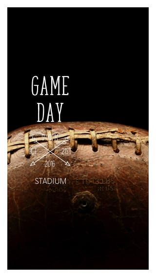 Text Message Invite Designs for Football Game Day