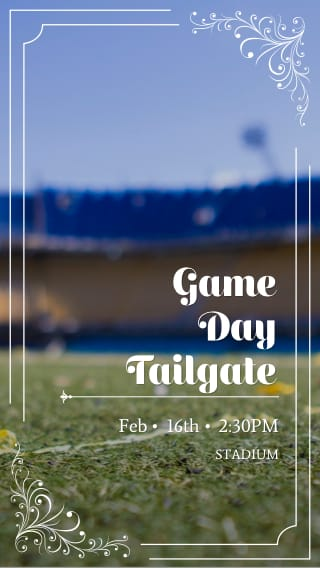 Text Message Invite Designs for Game Day Tailgate
