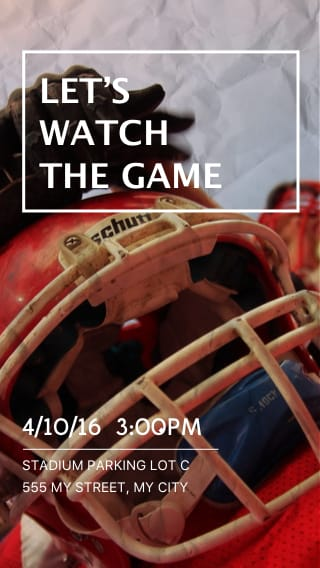 Text Message Invite Designs for Let's Watch the Game
