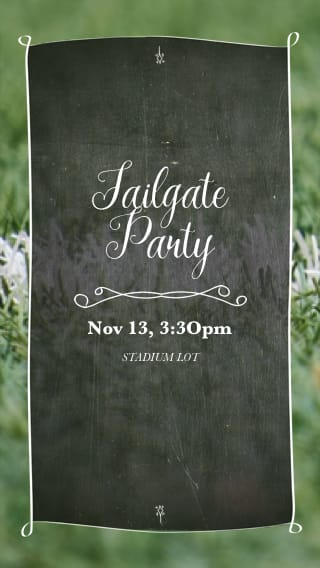 Text Message Invite Designs for Tailgate Party