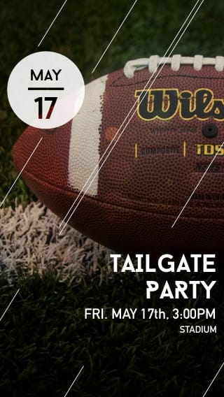 Text Message Invite Designs for Tailgate Barbecue
