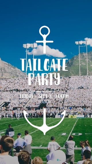 Text Message Invite Designs for Stadium Tailgate Party