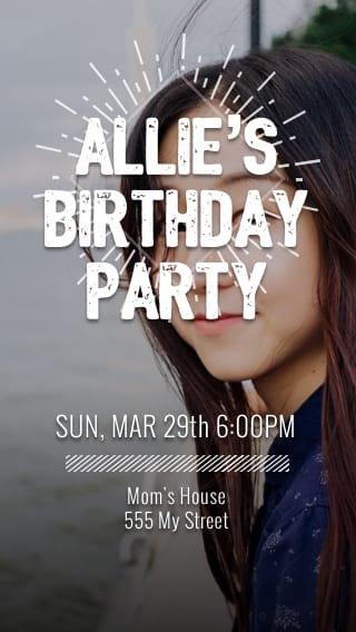 Text Message Invite Designs for Teen Bday Bash