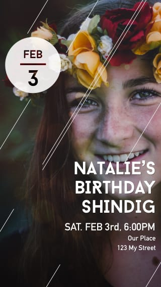 Text Message Invite Designs for Birthday Bash for the Teen