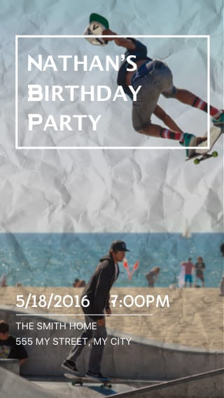 Text Message Invite Designs for Family Birthday Celebration for the Teenager