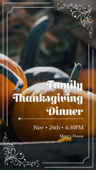 Text Message Invite Designs For Family Thanksgiving Dinner