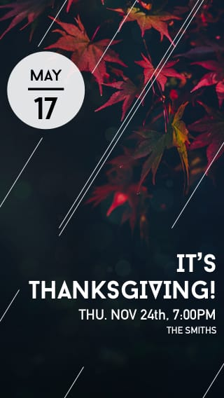 Text Message Invite Designs for Thanksgiving Supper