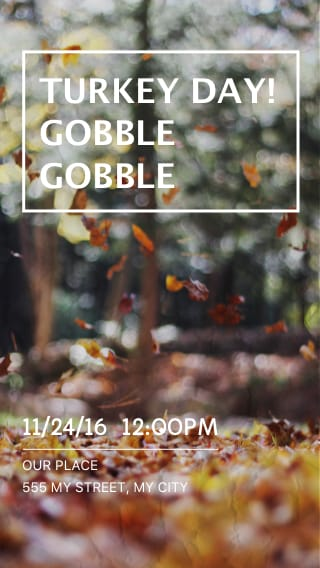 Text Message Invite Designs for Turkey Day Supper