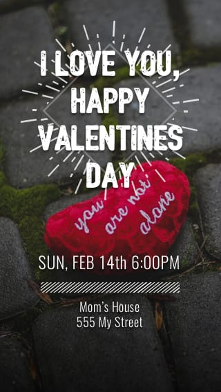 Text Message Invite Designs for I love you Date Night