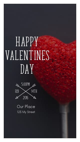 Text Message Invite Designs for Happy V Day