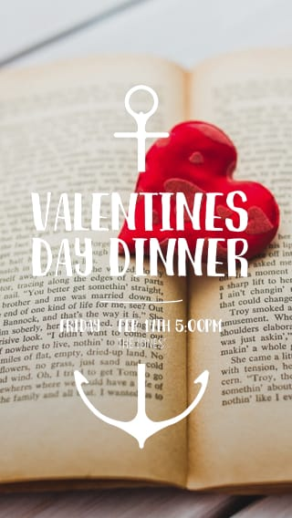 Text Message Invite Designs for Valentine's Day Dinner