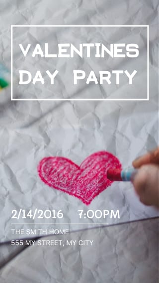 Text Message Invite Designs for Valentine's Day Party