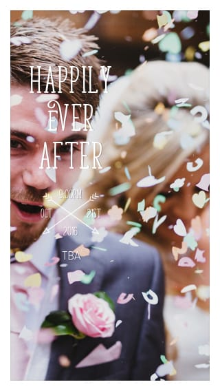 Text Message Invite Designs for Happily Ever After