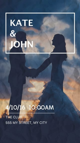Text Message Invite Designs for Married