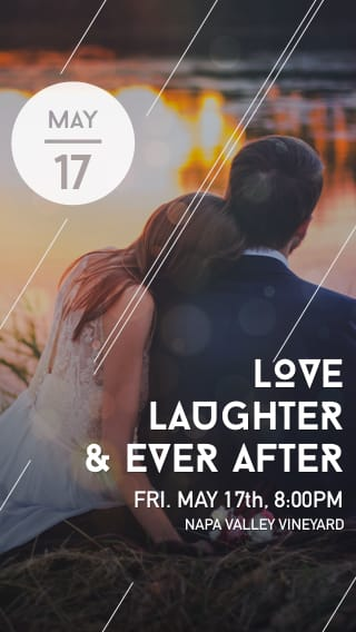 Text Message Invite Designs for Love, Laughter, Happily Ever After