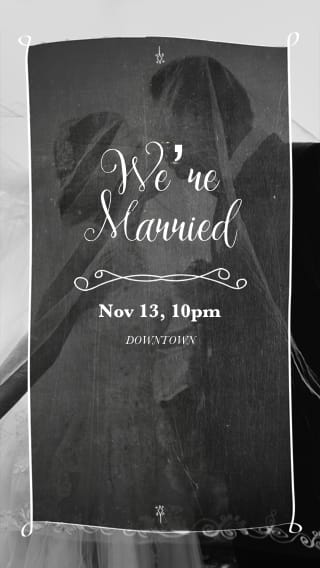 Text Message Invite Designs for We're Finally Married