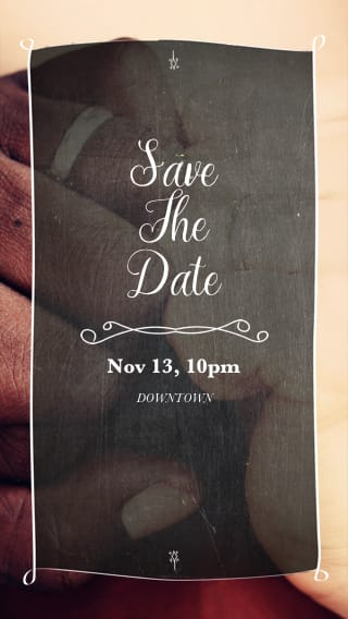 Text Message Invite Designs for We're Tying the Knot Save the Date