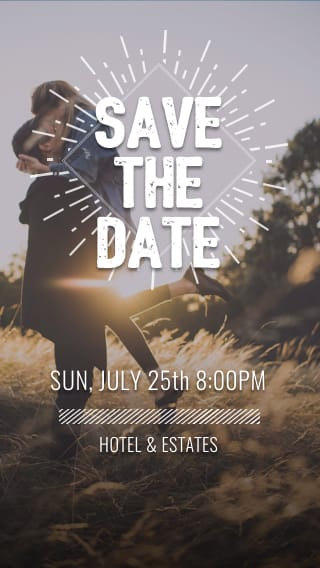 Text Message Invite Designs for Church Wedding Save the Date
