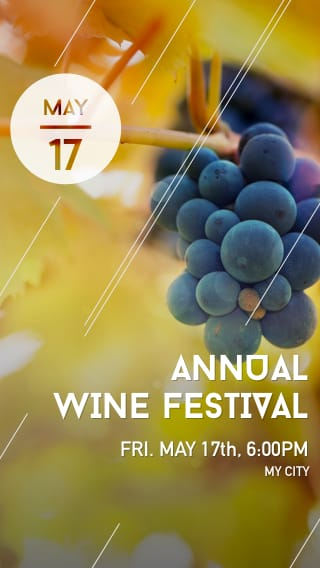 Text Message Invite Designs for Annual Wine Festival