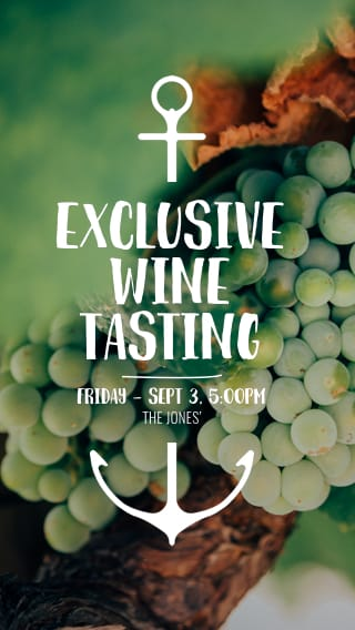 Text Message Invite Designs for Exclusive Wine Tasting