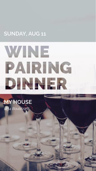 Text Message Invite Designs for Wine Pairing Dinner
